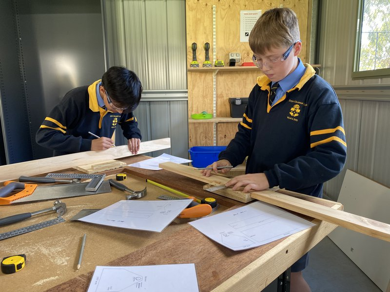 Year 6 woodworking