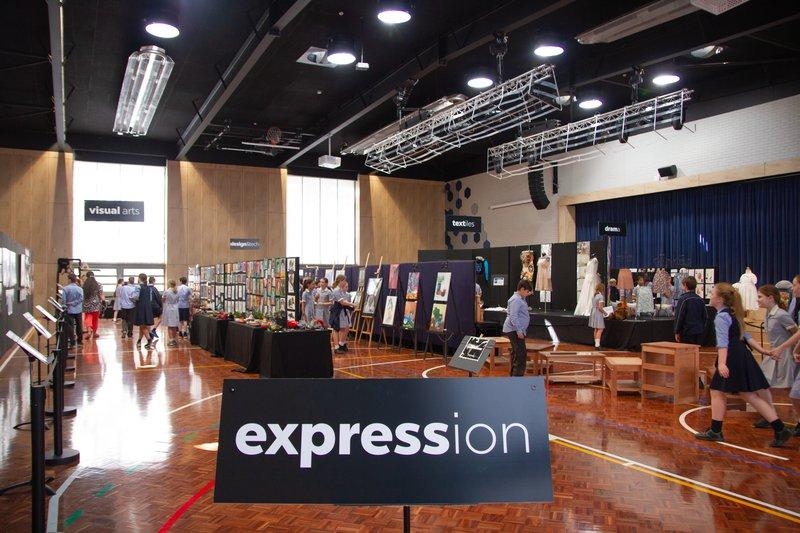 Expression showcase impresses students