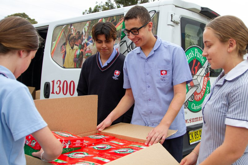 595 gift-filled shoeboxes packed and sent to children in need around the world