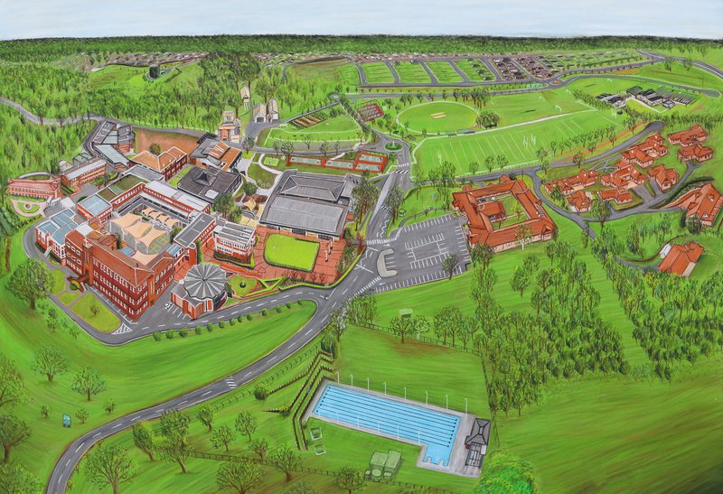 Illustrated Map of Campus